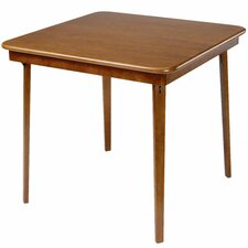 "Straight Edge Wood 32"" Folding Card Table"