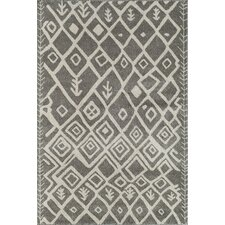 Tangier Dark Grey Geometric Rug