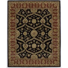 Dynasty Rustic Black Rug