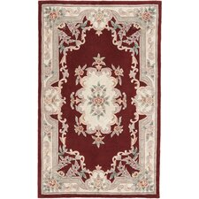 New Aubusson Burgundy Rug