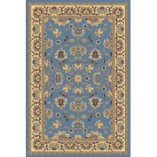 New Vision Light Blue Kashan Rug