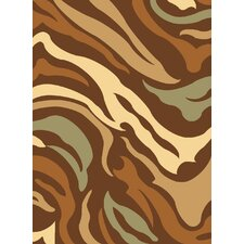 Torino Brown Jungle Rug
