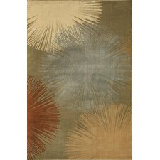 Torino Fireworks Light Green Area Rug