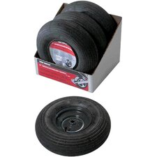 Wheelbarrow Wheel and Tire Assembly in Black