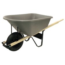 6 Cubic Foot Poly Contractor Wheelbarrow