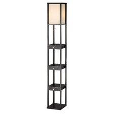 Murray Three Drawer Shelf Floor Lamp