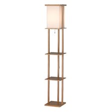 <strong>Adesso</strong> Barbery Shelf Floor Lamp
