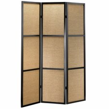 "<strong>Adesso</strong> 70"" x 52"" Haiku Folding 3 Panel Room Divider"