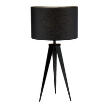"Director 28"" Table Lamp with Drum Shade"