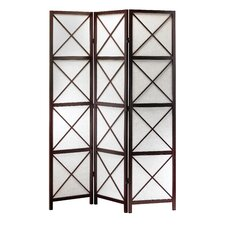 "<strong>Adesso</strong> 70"" x 52"" Apex Folding 3 Panel Room Divider"