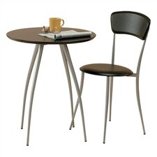 <strong>Adesso</strong> Cafe Table and Chair in Black (Chair Sold Separately)