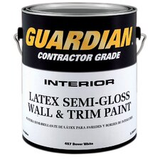 Contractor Grade 1 Gallon Dover White Interior Latex Wall and Trim Paint Semi-Gloss