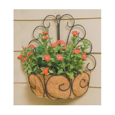 Peacock Wall Basket Planter