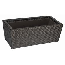 Vista  Resin Wicker Rect Planter