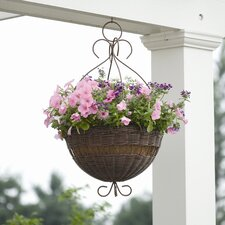 Resin Wicker Hanging Planter