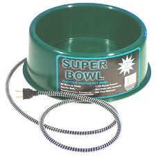 1.5 Gallon Round Heated Pet Bowl in Green