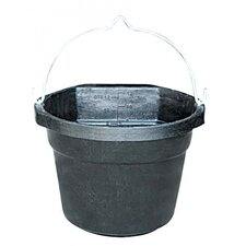 Heated Rubber Flat-Back Bucket in Black