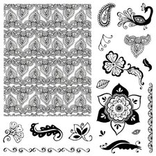 Hena Petal Stamp Set