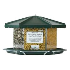 Triple Bin Party Hopper Bird Feeder