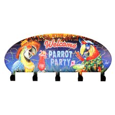Cabana Parrot Party Coat Rack