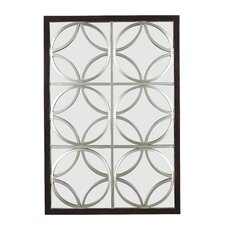 Gable Wall Mirror in Walnut with Silver Trellis