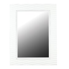 Kendrick Wall Mirror in Gloss White/Off White