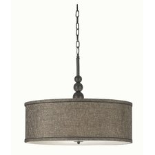 Adams 3 Light Drum Pendant