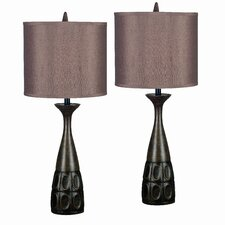 "Jules 29.5"" H Table Lamp with Drum Shade (Set of 2)"