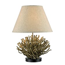 "Reed 25"" H Table Lamp with Empire Shade"