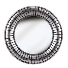 Inga Wall Mirror in Silver Plate