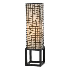 "Fortress 28"" H Table Lamp with Square Shade"