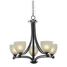 <strong>Kenroy Home</strong> Willoughby 5 Light Chandelier