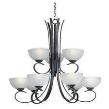 Maple 9 Light Chandelier