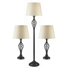 Avett Table Lamp and Floor Lamp Set
