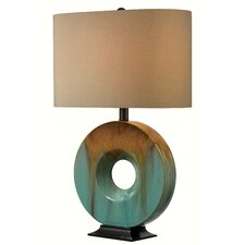 "Oster 25.25"" Table Lamp with Drum Shade"