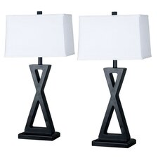 "Lincoln 31"" Table Lamp with Rectangle Shade (Set of 2)"