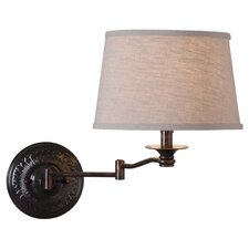 Riverside 1 Light Swing-Arm Wall  Lamp