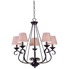 Basket 5 Light Chandelier