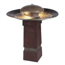 Copper Portland Sound Floor Fountain with Light