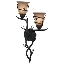 Peony 2 Light Wall Sconce