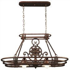 Dorada Lighted Hanging Pot Rack