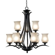 <strong>Kenroy Home</strong> Bienville 9 Light Chandelier