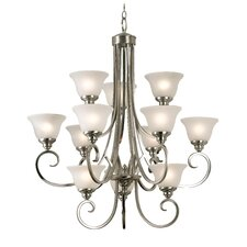 <strong>Kenroy Home</strong> Bienville 12 Light Chandelier