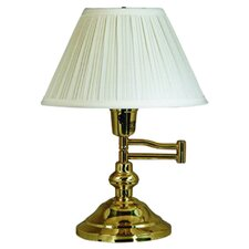 "Classic Swing Arm 16"" Table Lamp with Empire Shade"