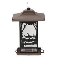 Wilderness Lantern Decorative Hopper Bird Feeder