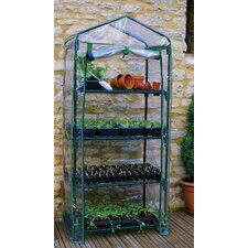 "Rainbow 4 Tier 27"" W x 19"" D Growing Rack Greenhouse"