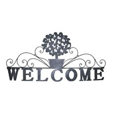 Welcome Topiary Wall Art