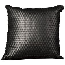 <strong>Nourison</strong> Natural Leather and Hide Pillow