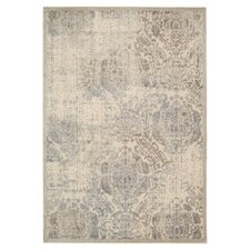 Graphic Illusions Ivory Geometric Area Rug