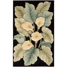 Tropics Black Novelty Rug